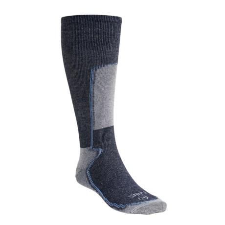 Lorpen Silk-Thermolite® Ski Socks (For Men and Women) in Navy Blue