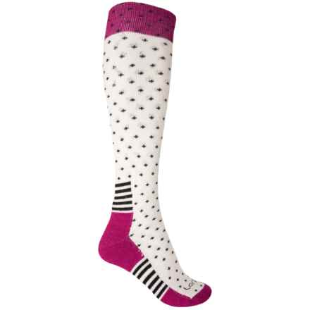 Lorpen Ski Classic Mid Socks - Merino Wool, Over the Calf (For Women) in White - Closeouts