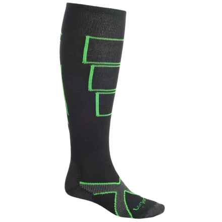 Lorpen Ski Light Socks - Merino Wool, Over the Calf (For Men) in Black - 2nds