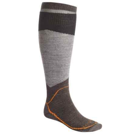 Lorpen Ski Light Socks - Merino Wool, Over the Calf (For Men) in Charcoal - 2nds