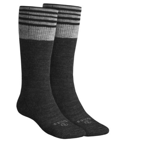 Lorpen Ski-Snowboard Socks - Italian Wool, 2-Pack (For Men and Women) in Gun Metal
