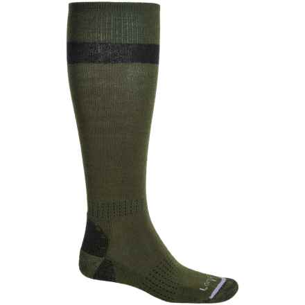 Lorpen T2 Classic Midweight Ski Socks - Merino Wool, Over the Calf (For Men) in Conifer - Closeouts