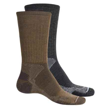 Lorpen T2 Hiker Socks - 2-Pack, Merino Wool, Crew (For Men) in Anthracite/Brown - Closeouts