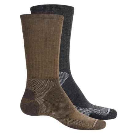Lorpen T2 Hiker Socks - 2-Pack, Merino Wool, Crew (For Men) in Anthracite/Brown - Closeouts