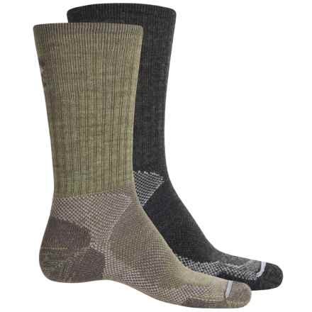 Lorpen T2 Hiker Socks - 2-Pack, Merino Wool, Crew (For Men) in Anthracite/Green - Closeouts