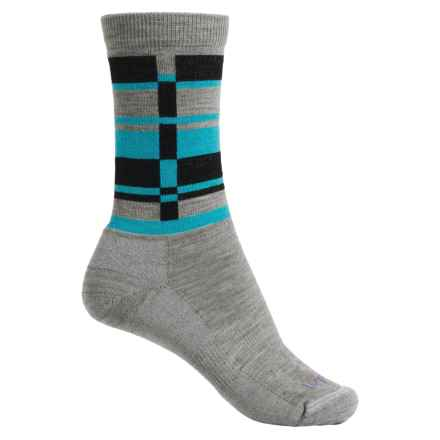 Lorpen T2 Lifestyle Stripes Socks - Merino Wool, Crew (For Women) in Grey - Closeouts