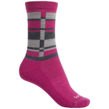 Lorpen T2 Lifestyle Stripes Socks - Merino Wool, Crew (For Women) in Violet - Closeouts