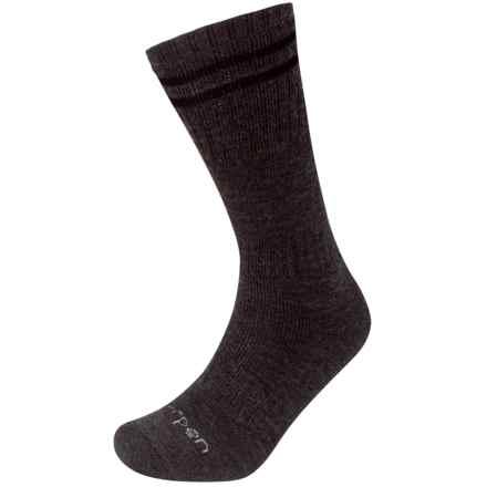 Lorpen T2 Merino Hunt Sock - Merino Wool, Crew (For Men and Women) in Charcoal - 2nds