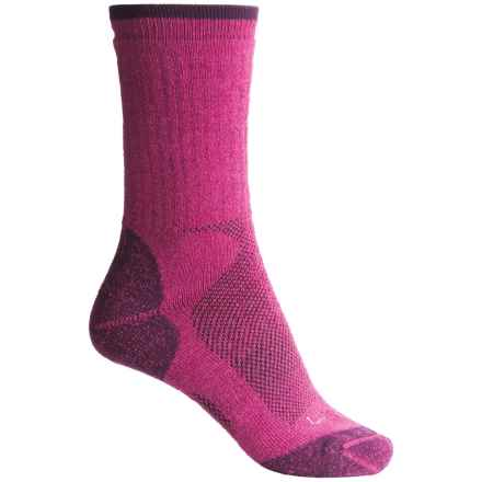 Lorpen T2 Midweight Hiker Socks - Merino Wool, Crew (For Women) in Violet - Closeouts