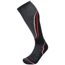 Lorpen T2 Midweight Ski Socks - Merino Wool, Over the Calf (For Men) in Black - Closeouts