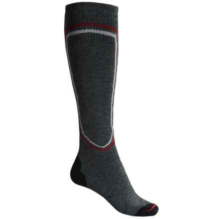 Lorpen T2 Midweight Ski Socks - Merino Wool, Over the Calf (For Men) in Charcoal - Closeouts