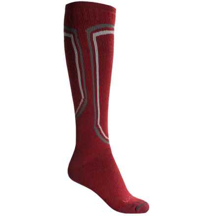 Lorpen T2 Midweight Ski Socks - Merino Wool, Over the Calf (For Men) in Red - Closeouts