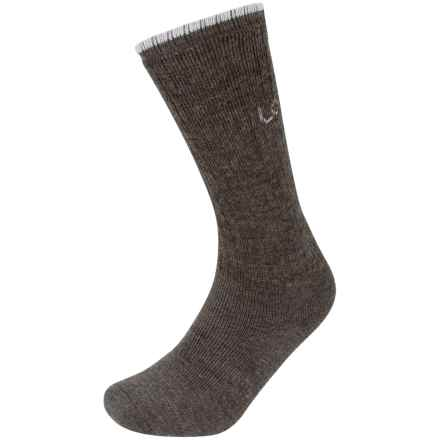 Lorpen T2 Work Socks - Merino Wool, Crew (For Men and Women) in Charcoal - Closeouts