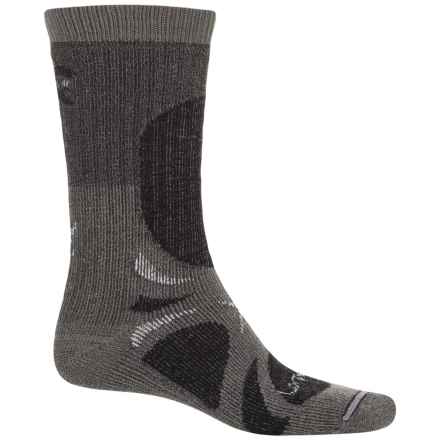Lorpen T3 All-Season Trekker Hiking Socks - Crew (For Men and Women) in Charcoal - Closeouts