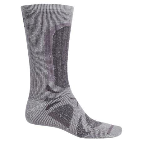 Lorpen T3 All-Season Trekker Hiking Socks - Crew (For Men and Women) in Grey Heather