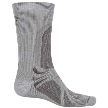 Lorpen T3 All-Season Trekker Socks - Crew (For Men and Women) in Grey Heather - Closeouts