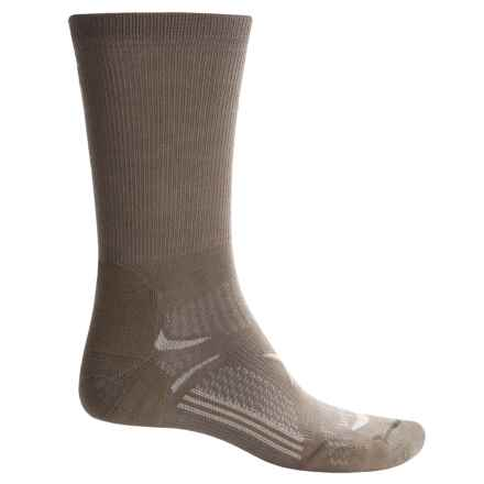 Lorpen T3 CoolMax® Hiking Socks - Crew (For Men) in Olive - Closeouts