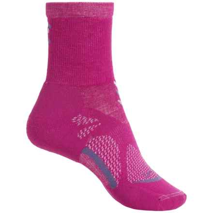 Lorpen T3 CoolMax® Light Hiker Socks - Crew (For Women) in Berry - Closeouts