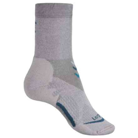 Lorpen T3 CoolMax® Light Hiker Socks - Crew (For Women) in Light Grey - Closeouts