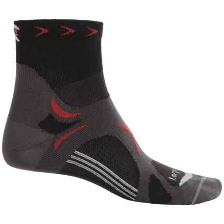 Lorpen T3 CoolMax® Ultralight Trail Running Socks - Quarter Crew (For Men) in Black - 2nds