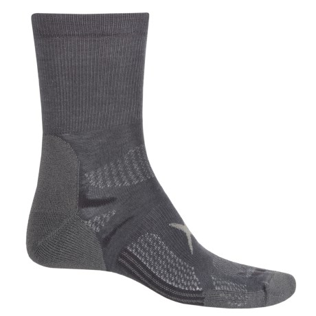 Lorpen T3 Light Hiker Shorty Socks - Ankle (For Men and Women) in Charcoal
