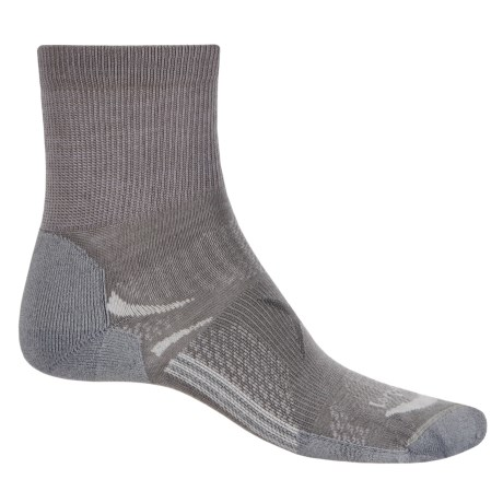 Lorpen T3 Light Hiker Shorty Socks - Ankle (For Men and Women) in Mid Grey
