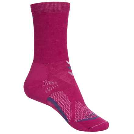 Lorpen T3 Light Hiker Socks - Crew (For Women) in Berry - Closeouts