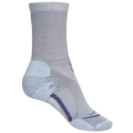 Lorpen T3 Light Hiker Socks - Crew (For Women) in Light Blue - Closeouts