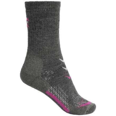 Lorpen T3 Midweight Hiker Socks - Merino Wool, Crew (For Women) in Charcoal - Closeouts
