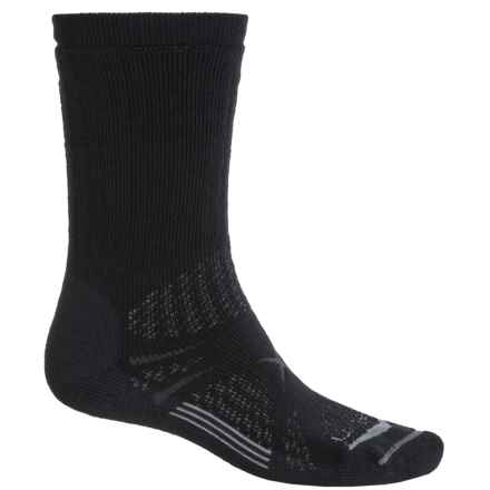 Lorpen T3 Midweight Hiker Socks - PrimaLoft®-Merino Wool, Crew (For Men and Women) in Black - Closeouts