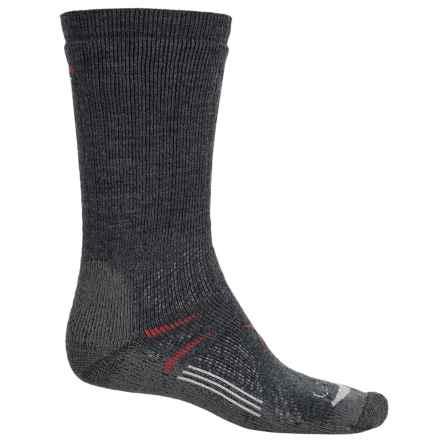 Lorpen T3 Midweight Hiker Socks - PrimaLoft®-Merino Wool, Crew (For Men and Women) in Charcoal - Closeouts