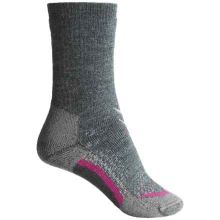 Lorpen T3 Midweight Hiker Socks - PrimaLoft®-Merino Wool, Crew (For Women) in Charcoal - Closeouts