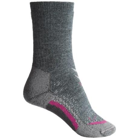 Lorpen T3 Midweight Hiker Socks - PrimaLoft®-Merino Wool, Crew (For Women) in Charcoal