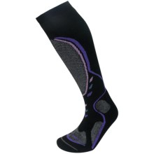 Lorpen T3 Midweight Ski Socks - PrimaLoft®-Merino Wool, Over the Calf (For Women) in Black - Closeouts