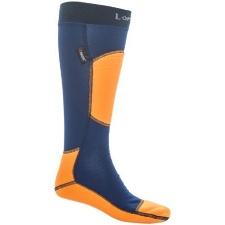 Lorpen T3+ Polartec® Light Ski Socks - Over the Calf (For Men and Women) in Blue