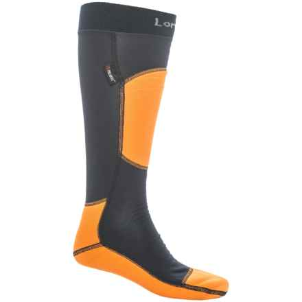 Lorpen T3+ Polartec® Light Ski Socks - Over the Calf (For Men and Women) in Yellow - Closeouts