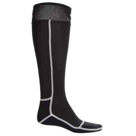 Lorpen T3+ Polartec® Superlight Race Ski Socks - Over the Calf (For Men and Women) in Ultrablack - Closeouts