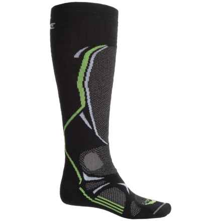 Lorpen T3 PrimaLoft® Ski Socks - Over the Calf (For Men and Women) in Black - 2nds