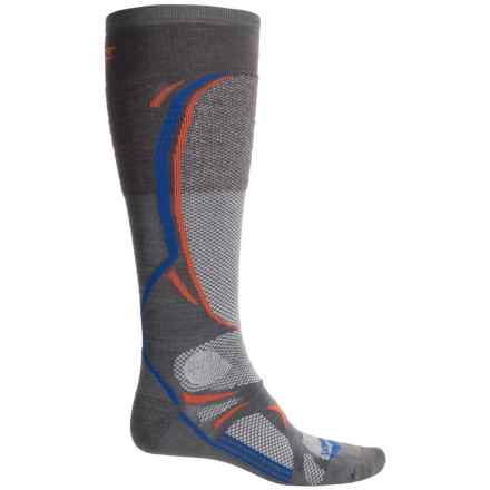 Lorpen T3 PrimaLoft® Ski Socks - Over the Calf (For Men and Women) in Dark Grey - 2nds