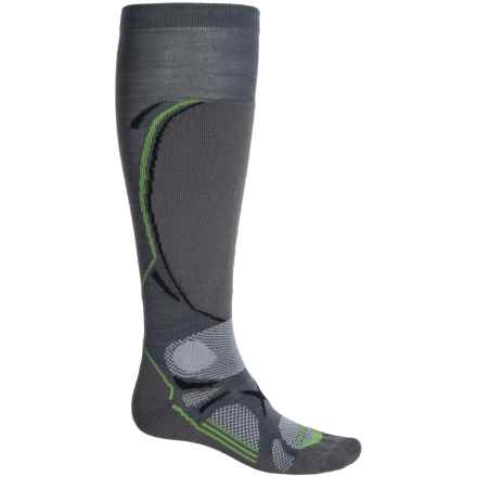 Lorpen T3 Ski Light Socks - Merino Wool, Over the Calf (For Men) in Dark Grey - Closeouts