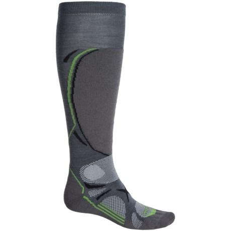 Lorpen T3 Ski Light Socks - Merino Wool, Over the Calf (For Men) in Dark Grey