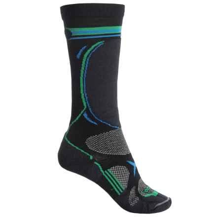 Lorpen T3 Ski Socks - Over the Calf (For Big Kids) in Black - 2nds