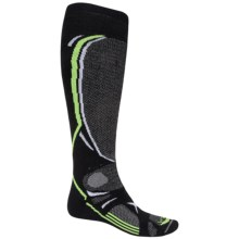 Lorpen T3 Ski Socks - PrimaLoft®-Merino Wool, Over The Calf (For Men) in Black - Closeouts