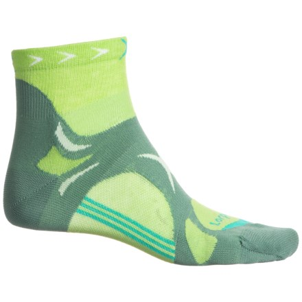 bf96e83d4d845 Lorpen T3 Trail Running Socks - Quarter Crew (For Women) in Bright Green -