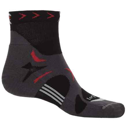 Lorpen T3 Tri-Layer Light Trail Running Socks - Ankle (For Men) in Black - Closeouts