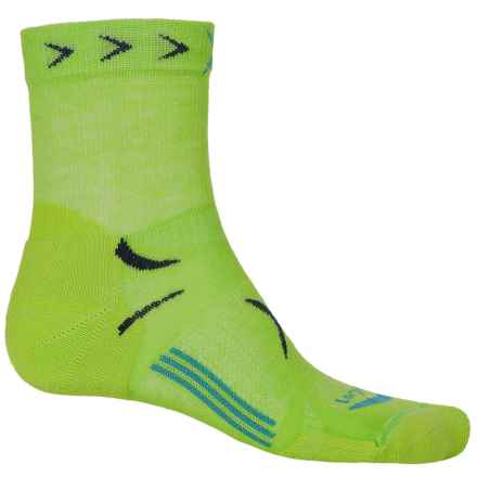 Lorpen T3 Tri-Layer Light Trail Running Socks - Ankle (For Men) in Bright Green - Closeouts