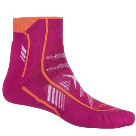 Lorpen T3 Ultra Trail Running Socks - Ankle (For Men and Women) in Berry - Closeouts