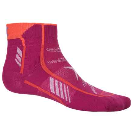 Lorpen T3 Ultralight Trail Running Socks - Ankle (For Men and Women) in Berry - Closeouts