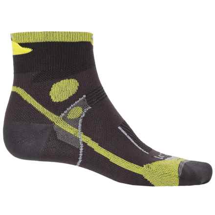 Lorpen T3 Ultralight Trail Running Socks - Ankle (For Men and Women) in Green Lime - Closeouts