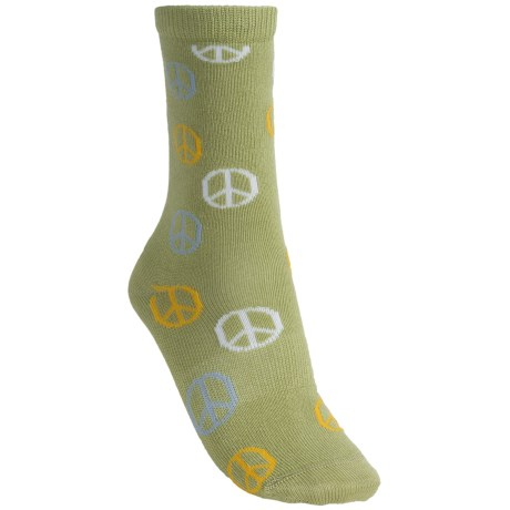 Lorpen Taylor Socks - Modal, Crew (For Women) in Light Green